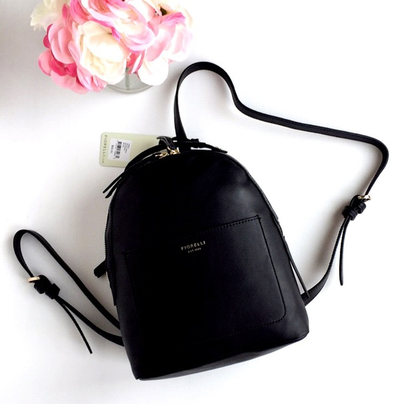 hot-selling professional genuine shoes reasonable price NWTs Fiorelli Anouk Small Black Backpack Boutique